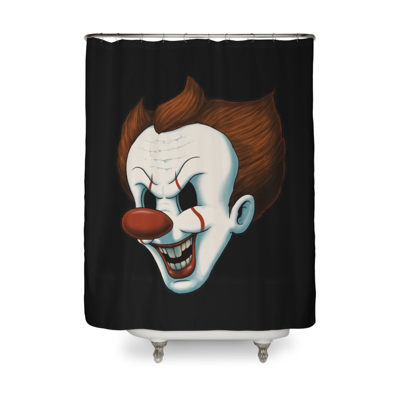 The Dancing Clown Home Shower Curtain by Pigboom's Artist Shop