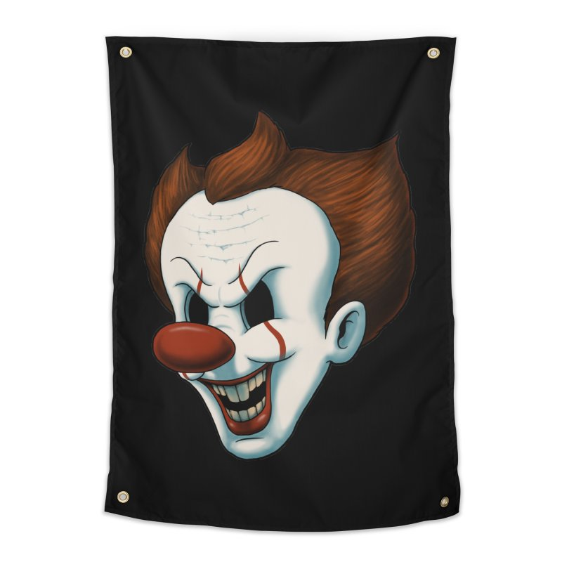 The Dancing Clown Home Tapestry by Pigboom's Artist Shop
