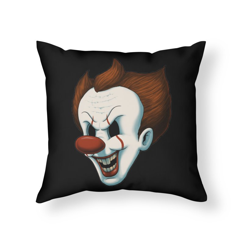 The Dancing Clown Home Throw Pillow by Pigboom's Artist Shop