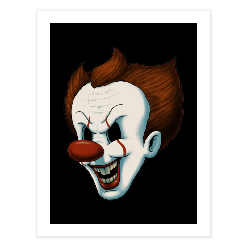 The Dancing Clown Home Fine Art Print by Pigboom's Artist Shop