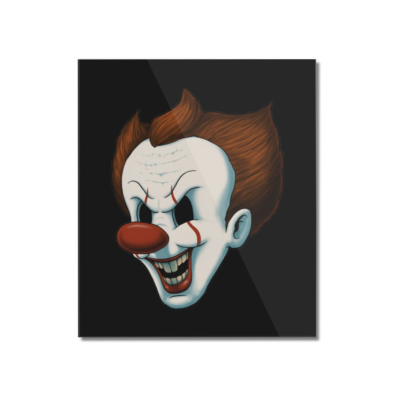 The Dancing Clown Home Mounted Acrylic Print by Pigboom's Artist Shop