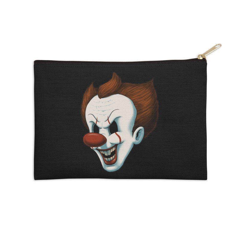 The Dancing Clown Accessories Zip Pouch by Pigboom's Artist Shop