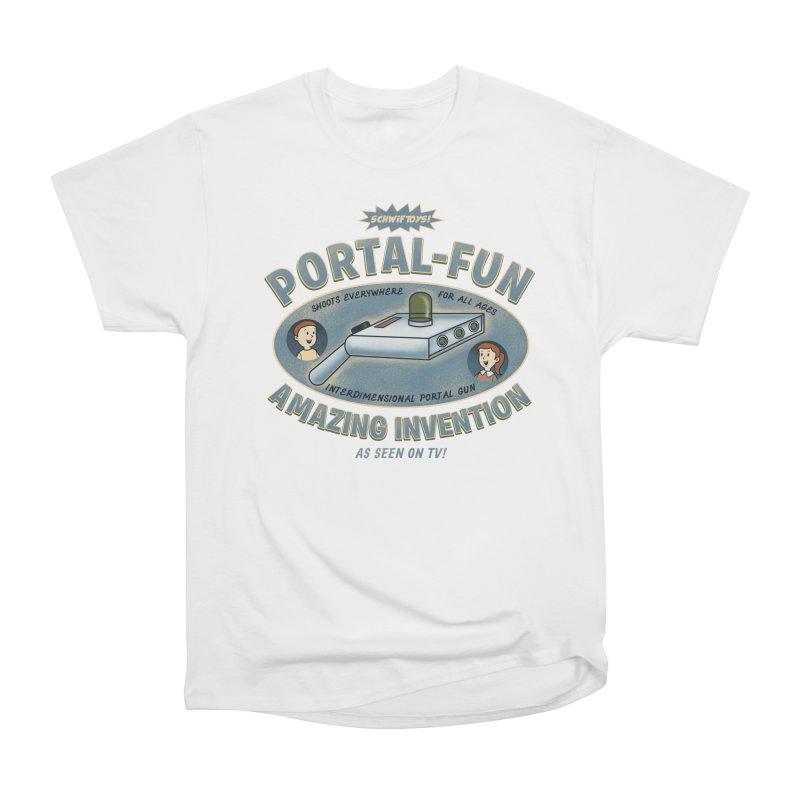 Portal Fun Men's Heavyweight T-Shirt by Pigboom's Artist Shop
