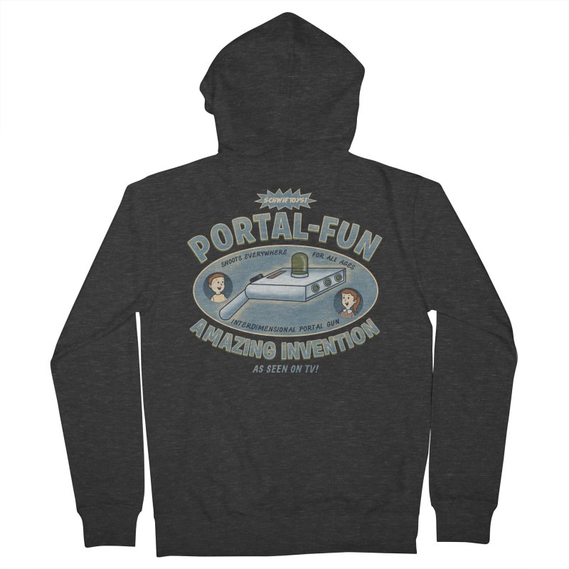 Portal Fun Men's Zip-Up Hoody by Pigboom's Artist Shop
