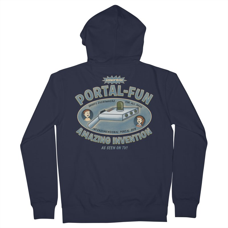 Portal Fun Men's French Terry Zip-Up Hoody by Pigboom's Artist Shop