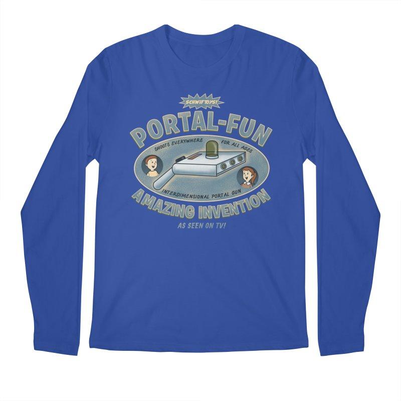 Portal Fun Men's Longsleeve T-Shirt by Pigboom's Artist Shop