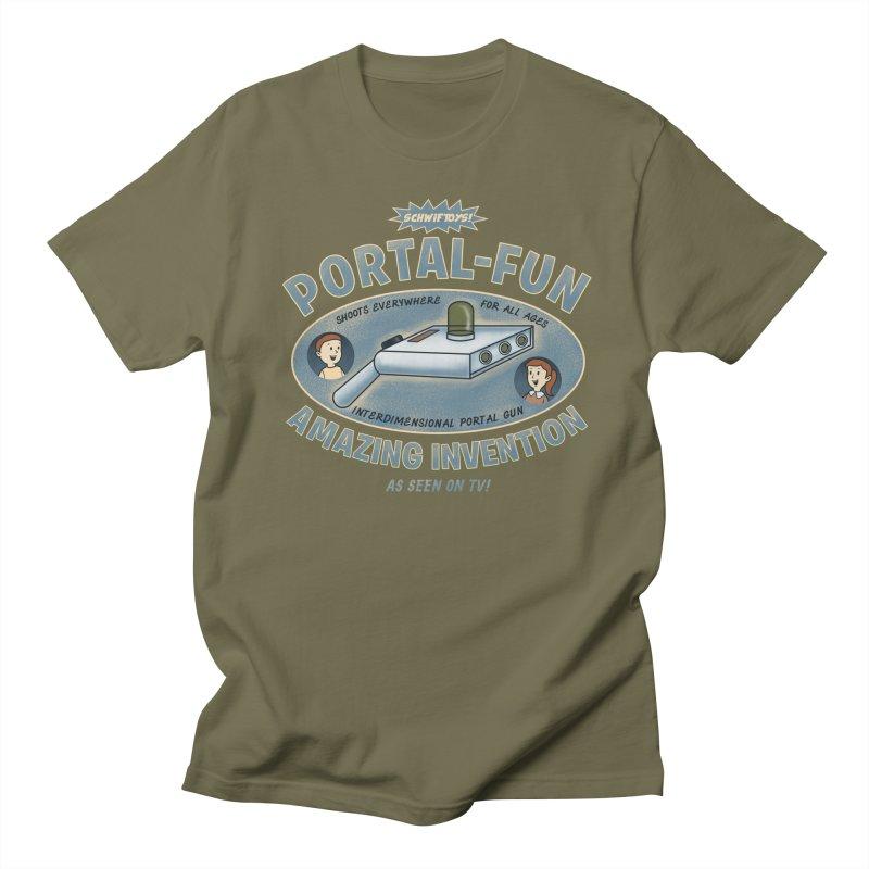 Portal Fun Men's T-Shirt by Pigboom's Artist Shop