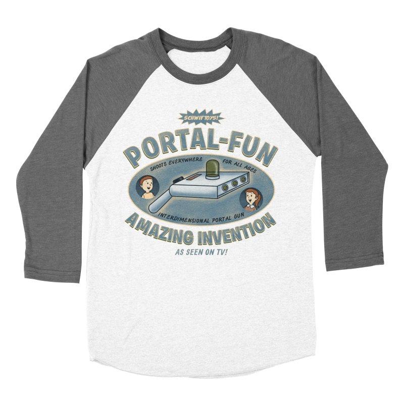 Portal Fun Women's Baseball Triblend T-Shirt by Pigboom's Artist Shop