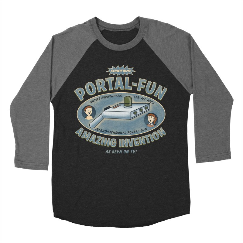 Portal Fun Men's Baseball Triblend T-Shirt by Pigboom's Artist Shop