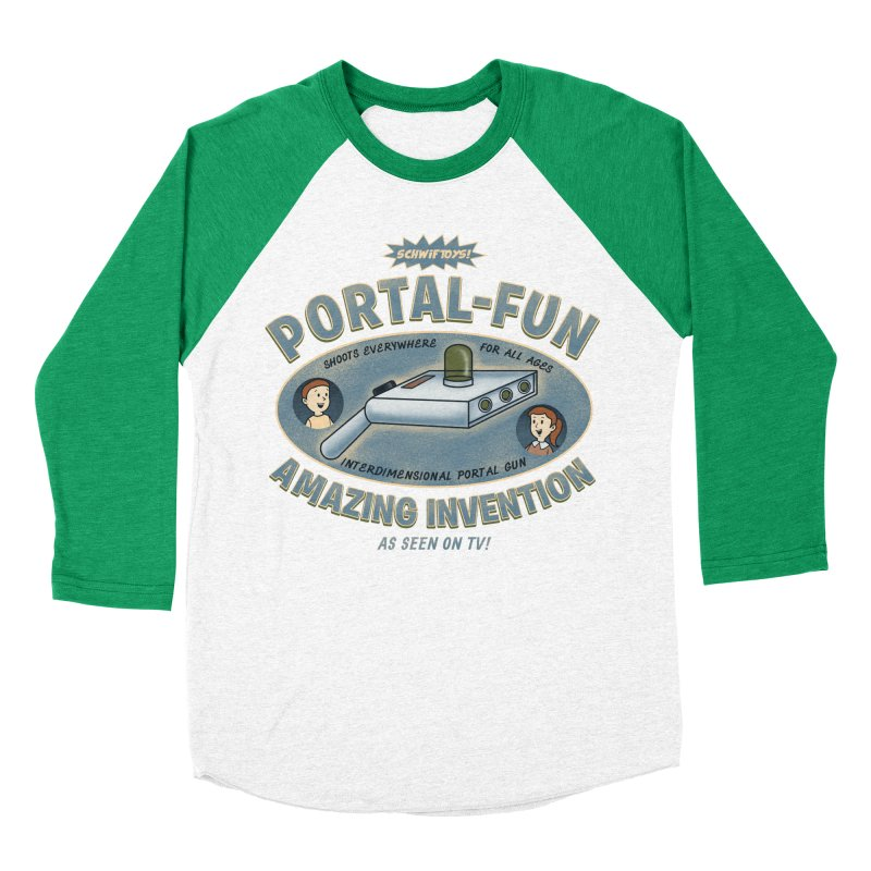 Portal Fun Men's Baseball Triblend T-Shirt by Pigboom's Artist Shop