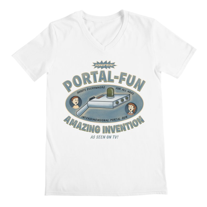 Portal Fun Men's V-Neck by Pigboom's Artist Shop