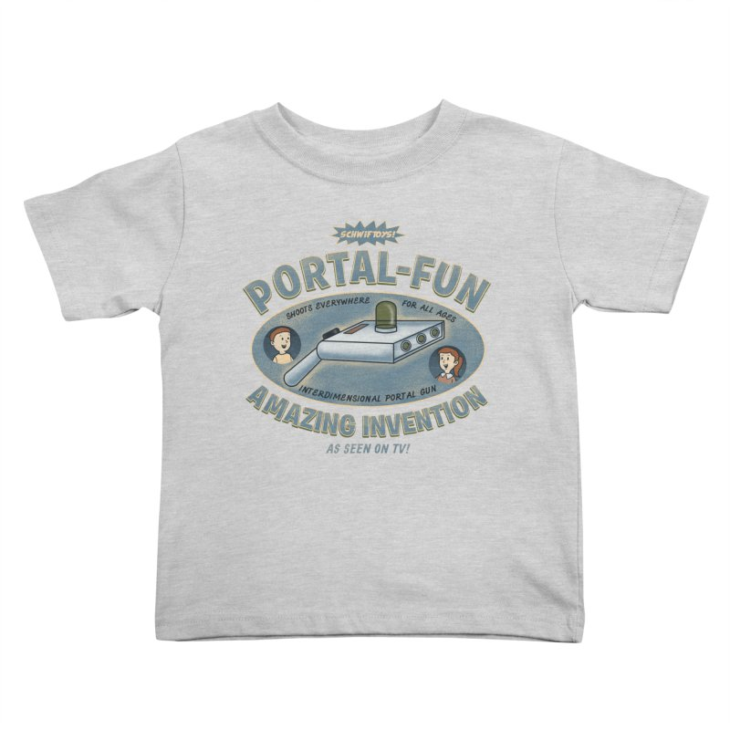Portal Fun Kids Toddler T-Shirt by Pigboom's Artist Shop