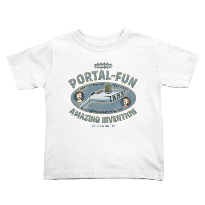 Portal Fun Kids Toddler T-Shirt by Pigboom's Artist Shop