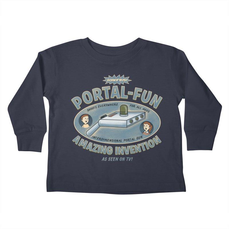 Portal Fun Kids Toddler Longsleeve T-Shirt by Pigboom's Artist Shop