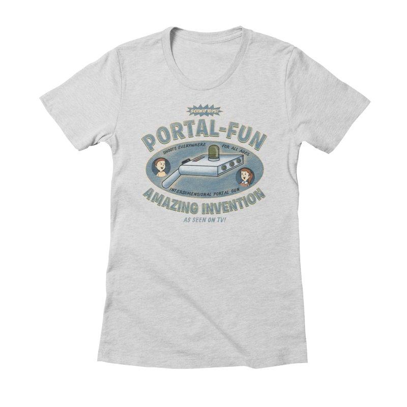 Portal Fun Women's Fitted T-Shirt by Pigboom's Artist Shop