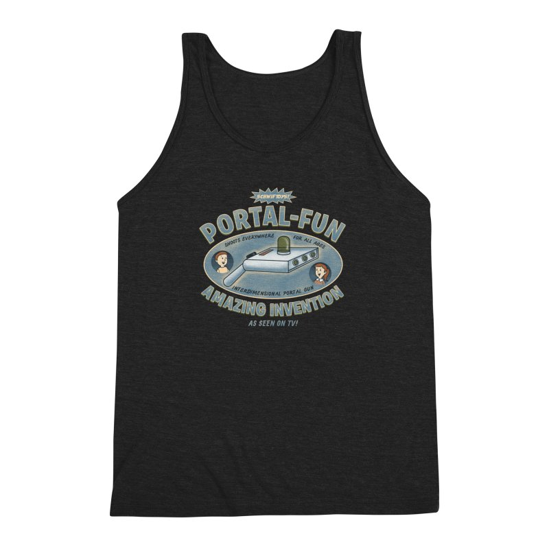 Portal Fun Men's Triblend Tank by Pigboom's Artist Shop