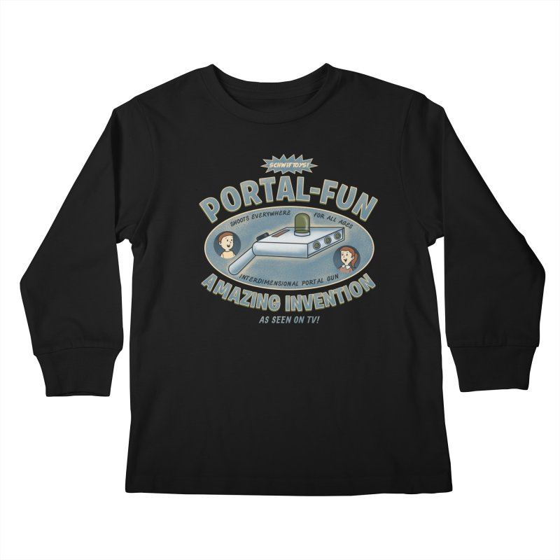 Portal Fun Kids Longsleeve T-Shirt by Pigboom's Artist Shop