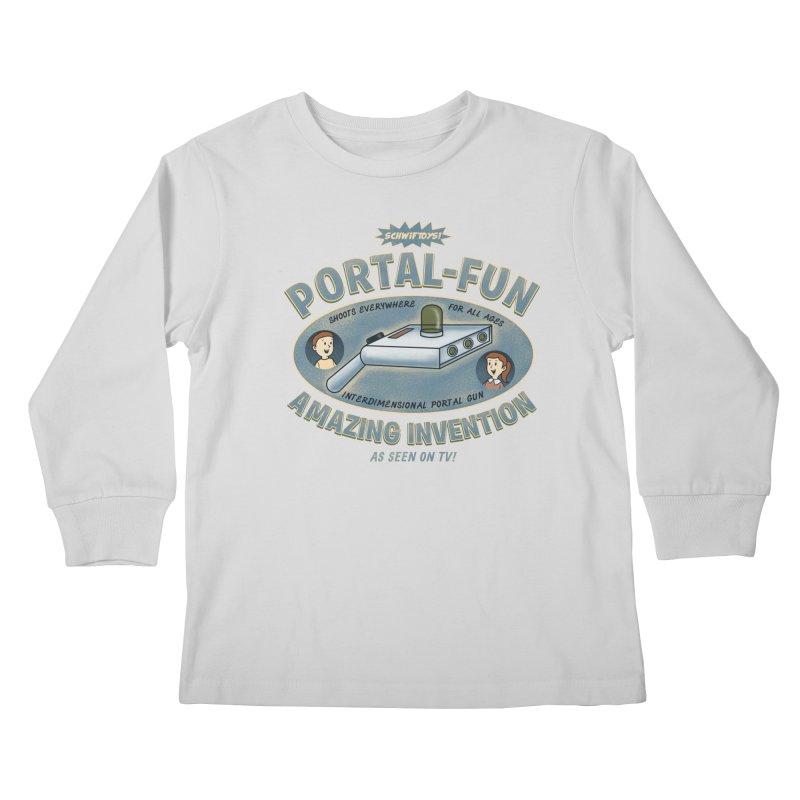 Portal Fun Kids Longsleeve T-Shirt by Pigboom's Artist Shop