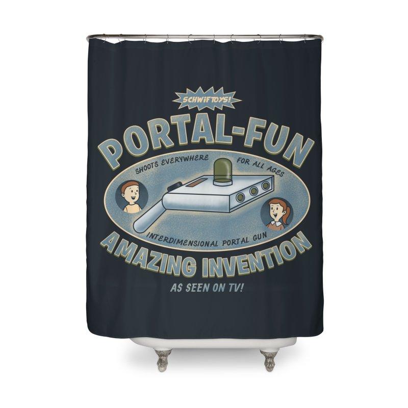 Portal Fun Home Shower Curtain by Pigboom's Artist Shop