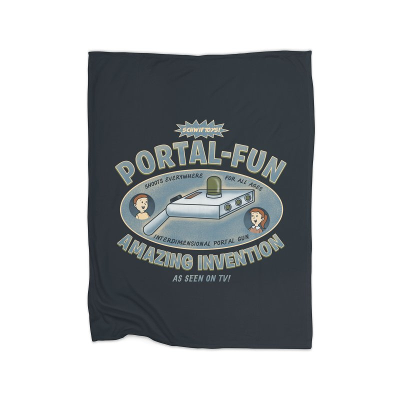 Portal Fun Home Fleece Blanket by Pigboom's Artist Shop