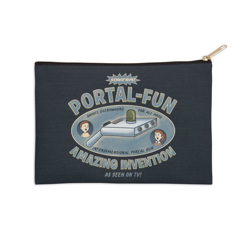Portal Fun Accessories Zip Pouch by Pigboom's Artist Shop