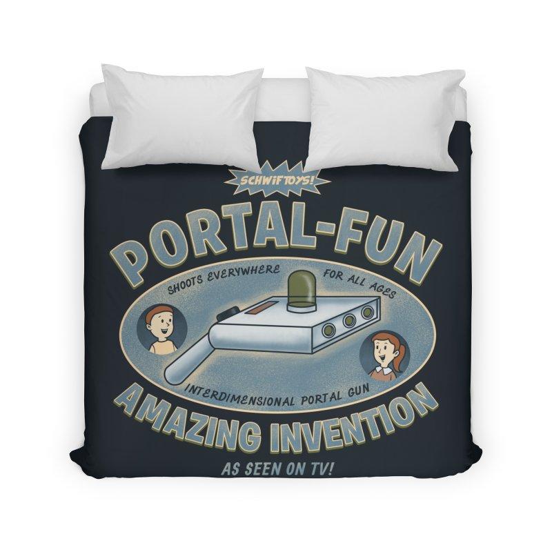 Portal Fun Home Duvet by Pigboom's Artist Shop