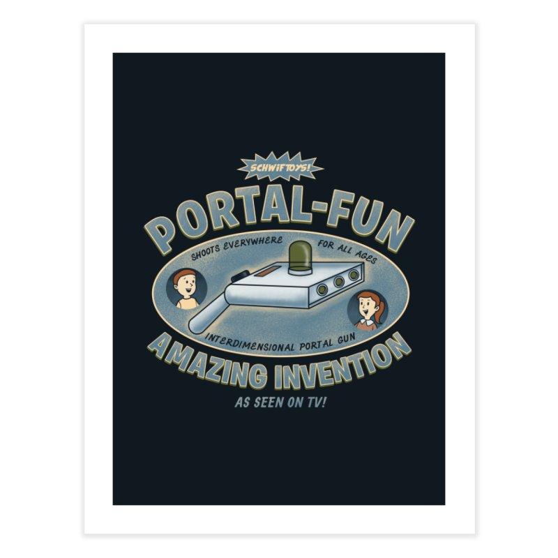 Portal Fun Home Fine Art Print by Pigboom's Artist Shop