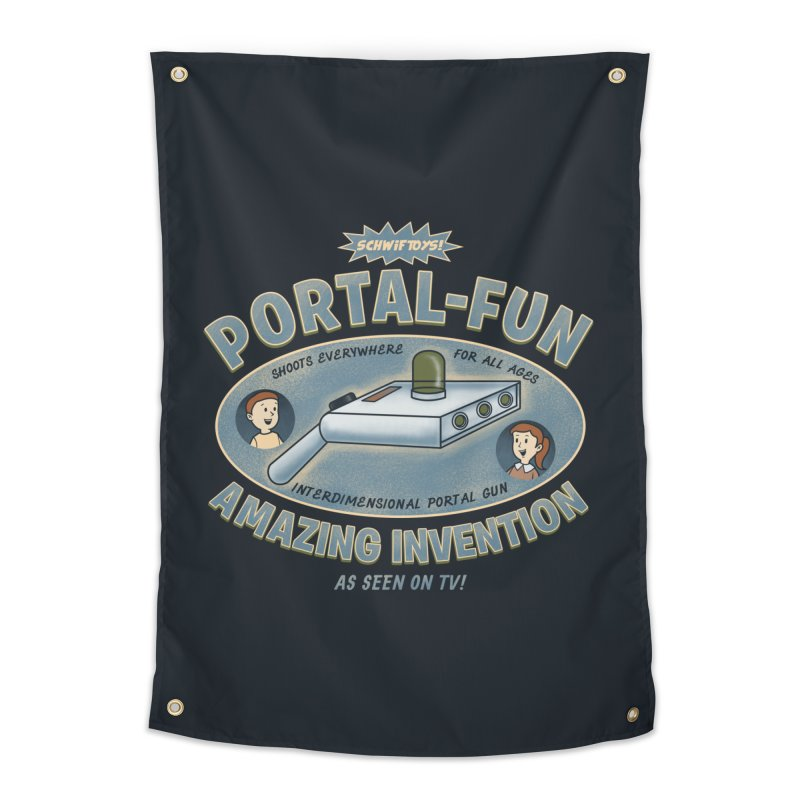 Portal Fun Home Tapestry by Pigboom's Artist Shop