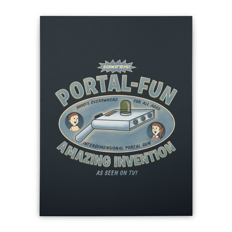 Portal Fun Home Stretched Canvas by Pigboom's Artist Shop
