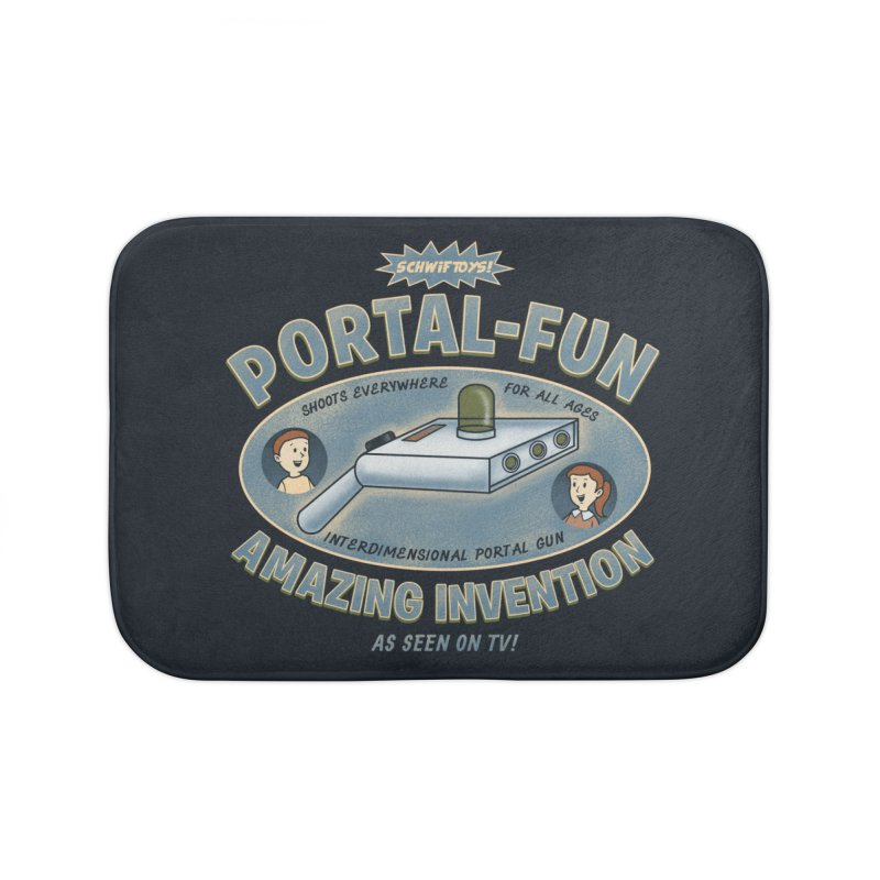 Portal Fun Home Bath Mat by Pigboom's Artist Shop