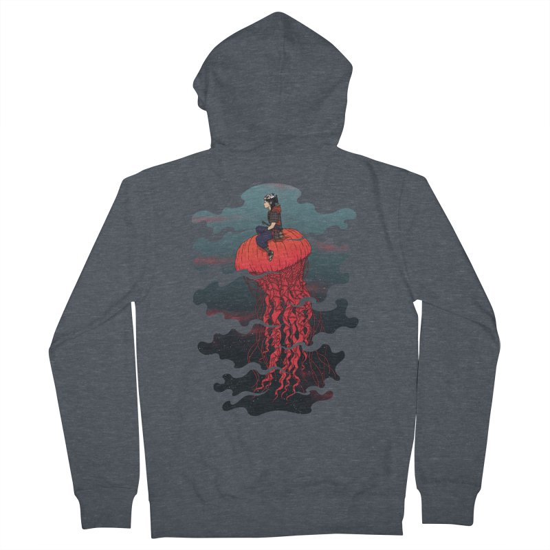 The Wanderer Men's Zip-Up Hoody by Pigboom's Artist Shop