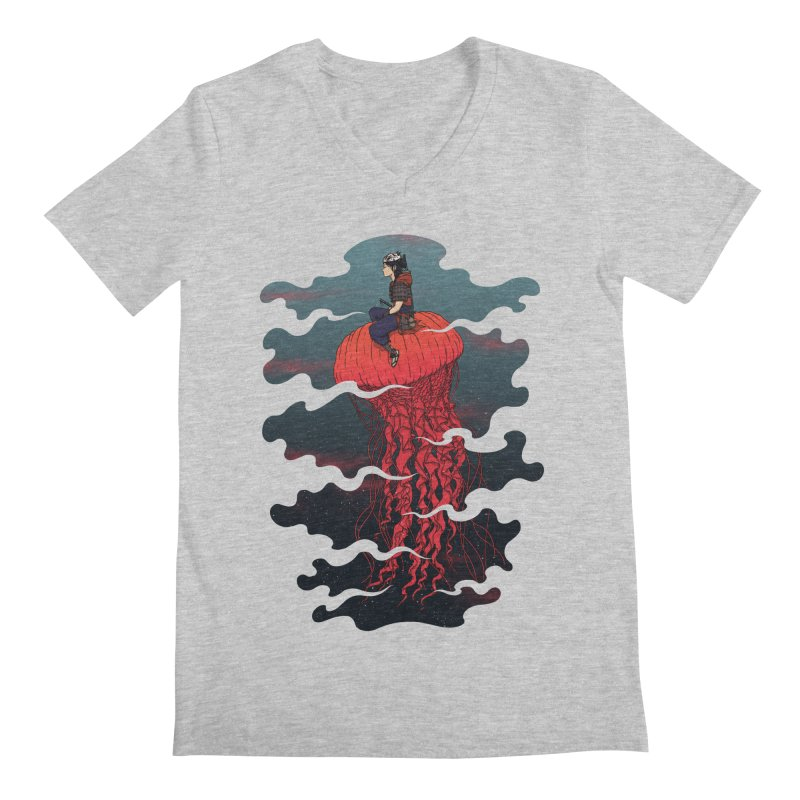 The Wanderer Men's V-Neck by Pigboom's Artist Shop