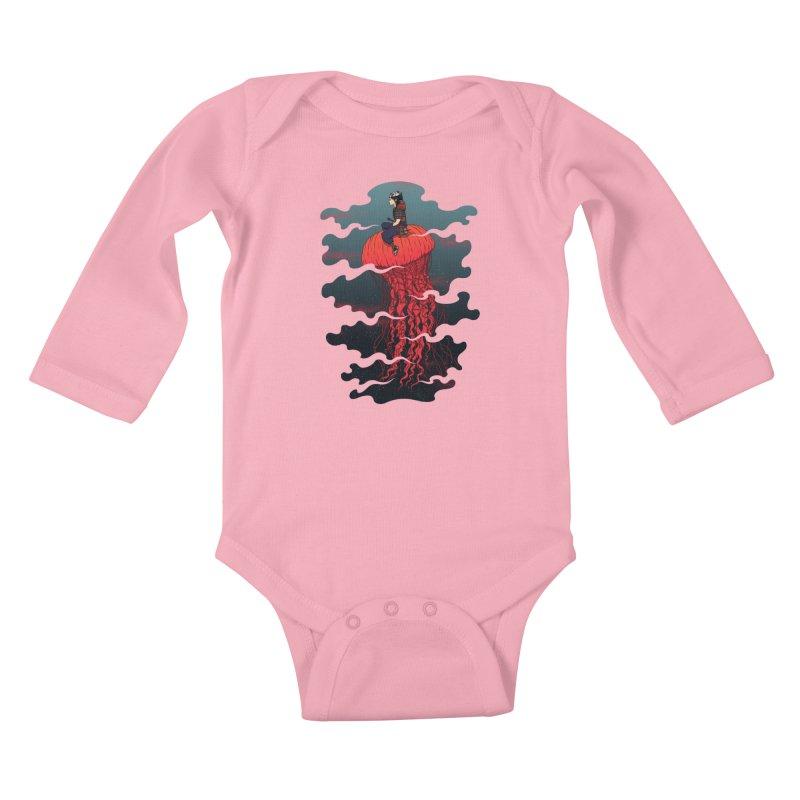 The Wanderer Kids Baby Longsleeve Bodysuit by Pigboom's Artist Shop