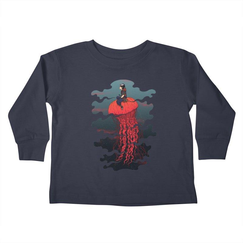 The Wanderer Kids Toddler Longsleeve T-Shirt by Pigboom's Artist Shop