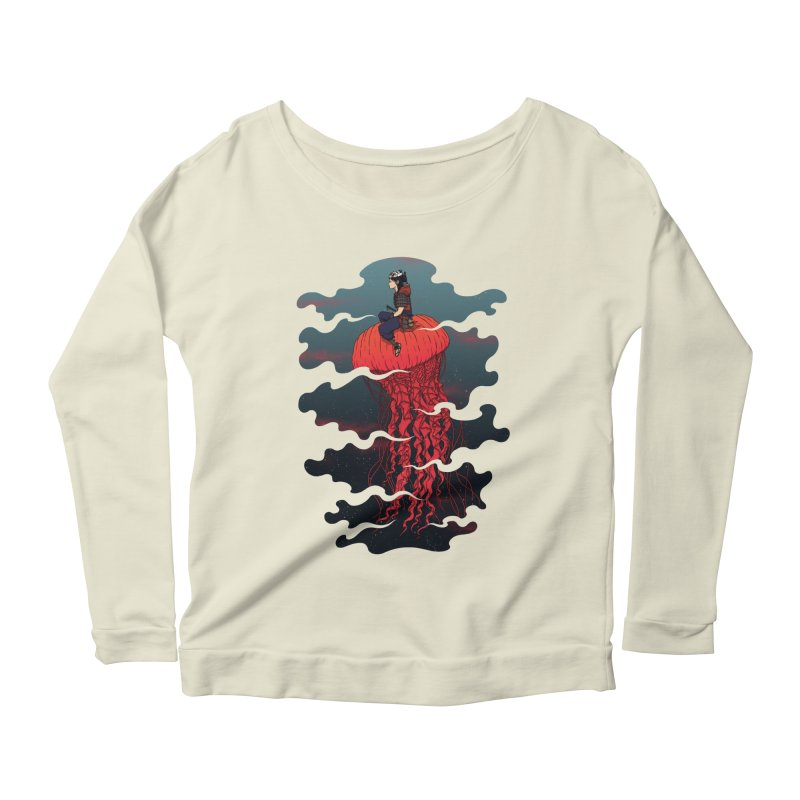 The Wanderer Women's Longsleeve Scoopneck  by Pigboom's Artist Shop