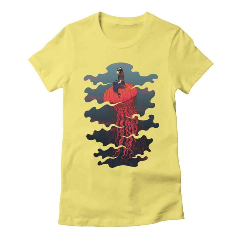The Wanderer Women's Fitted T-Shirt by Pigboom's Artist Shop