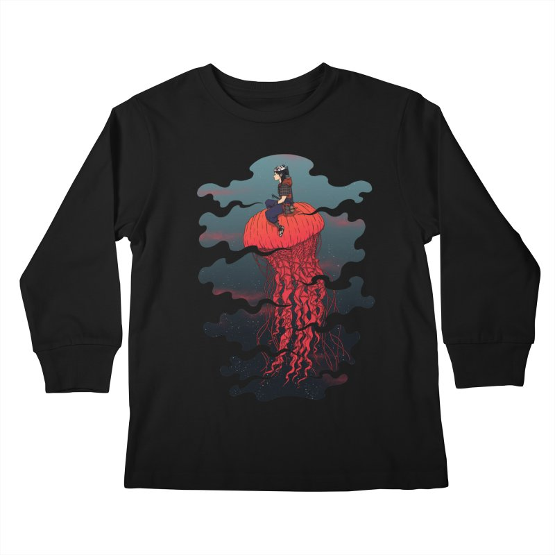 The Wanderer Kids Longsleeve T-Shirt by Pigboom's Artist Shop