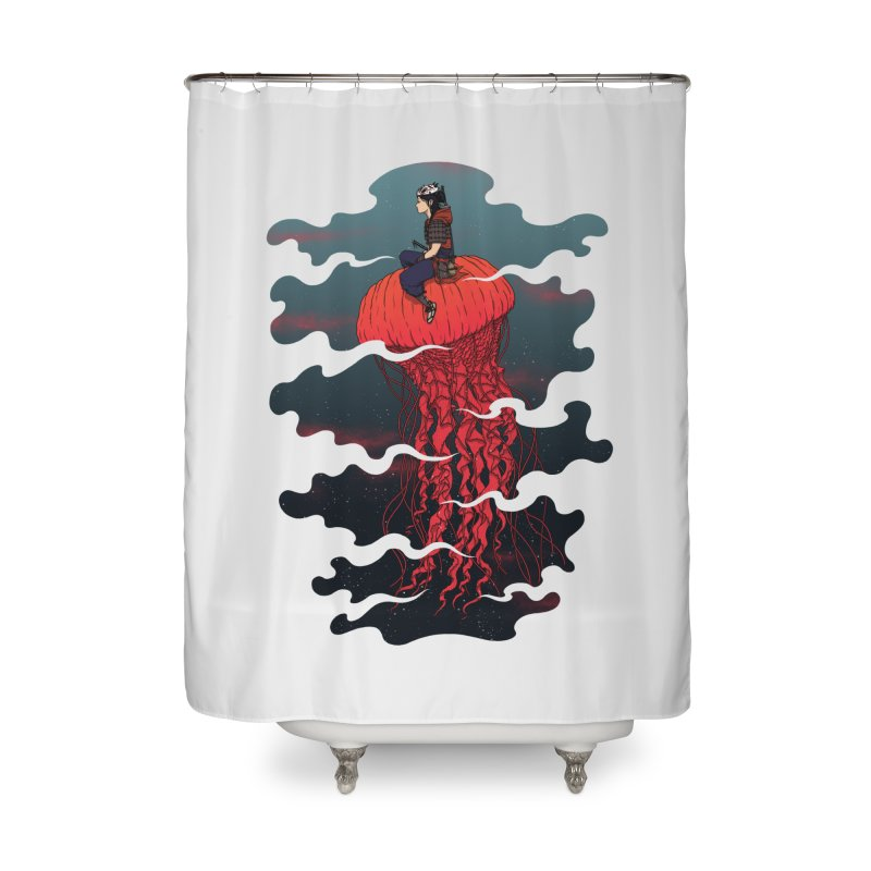 The Wanderer Home Shower Curtain by Pigboom's Artist Shop