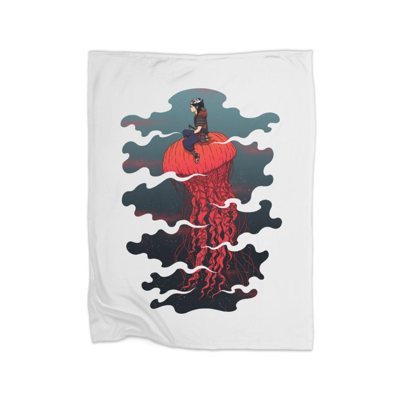The Wanderer Home Fleece Blanket by Pigboom's Artist Shop