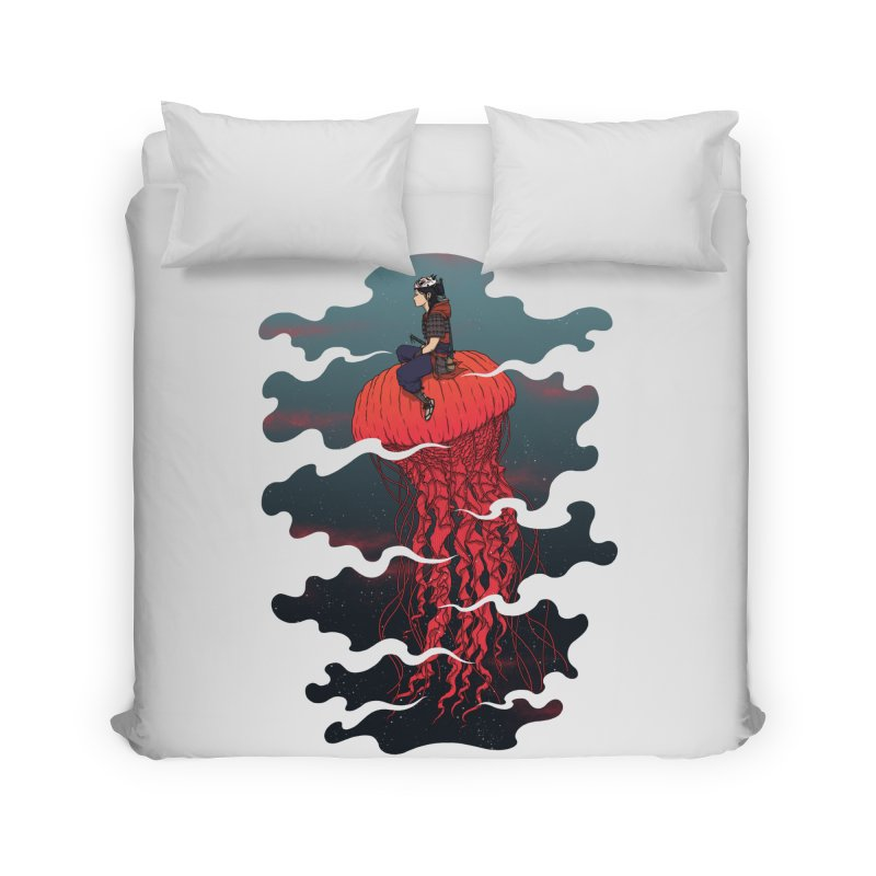 The Wanderer Home Duvet by Pigboom's Artist Shop