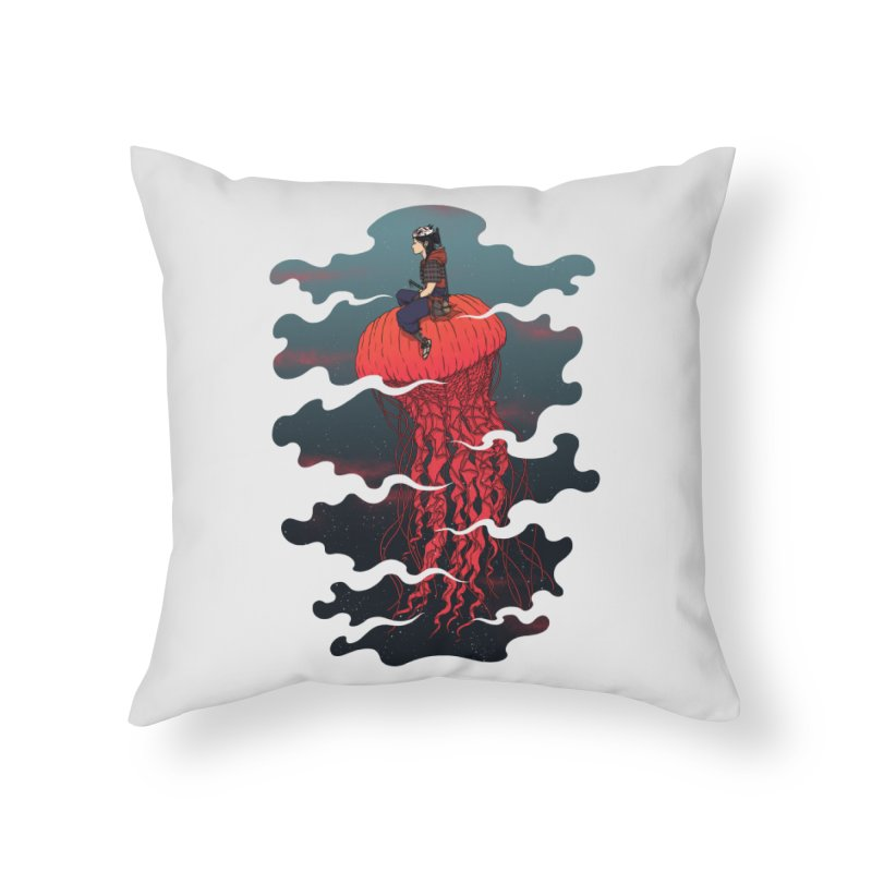 The Wanderer Home Throw Pillow by Pigboom's Artist Shop