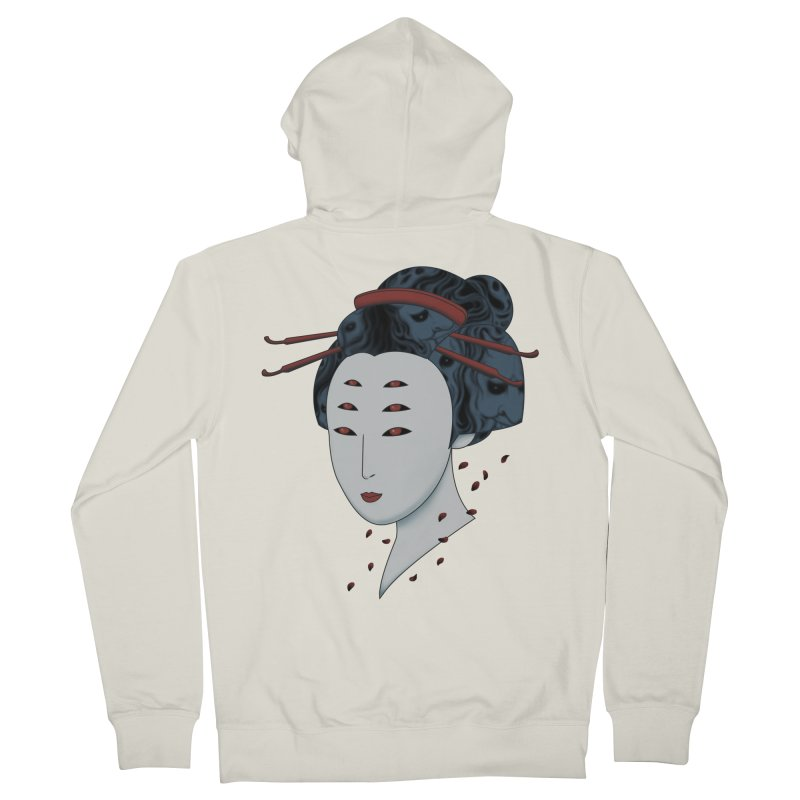 Floating with Demons Men's French Terry Zip-Up Hoody by Pigboom's Artist Shop