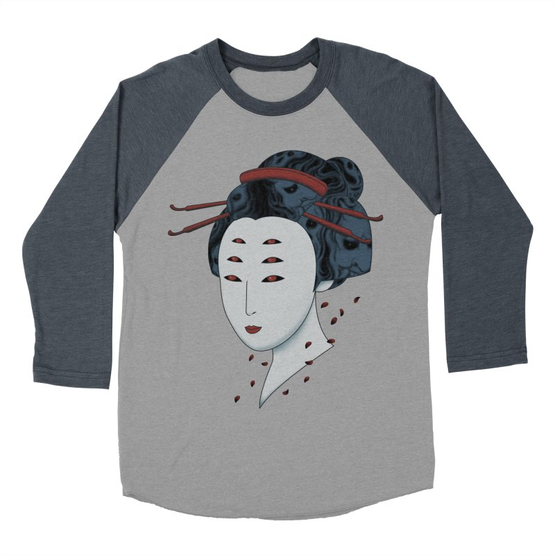 Floating with Demons Men's Baseball Triblend T-Shirt by Pigboom's Artist Shop