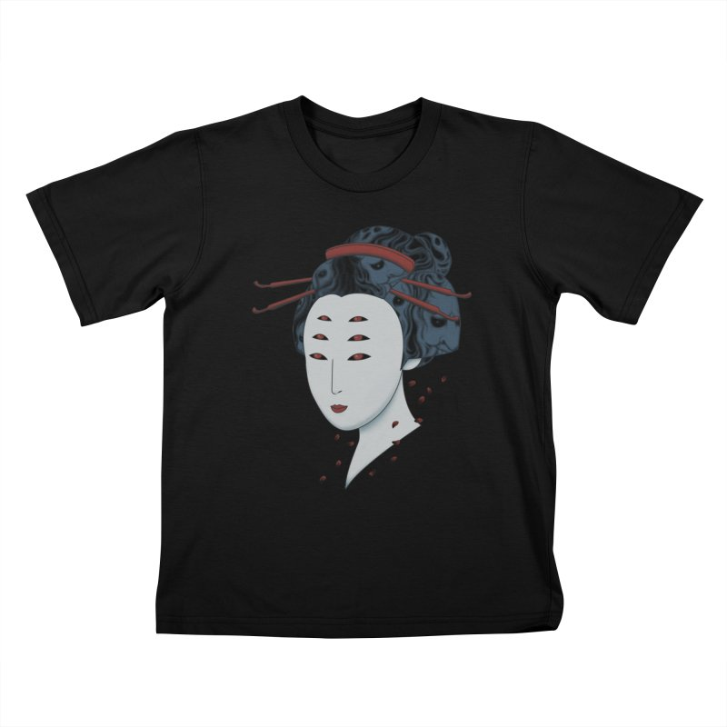 Floating with Demons Kids T-Shirt by Pigboom's Artist Shop
