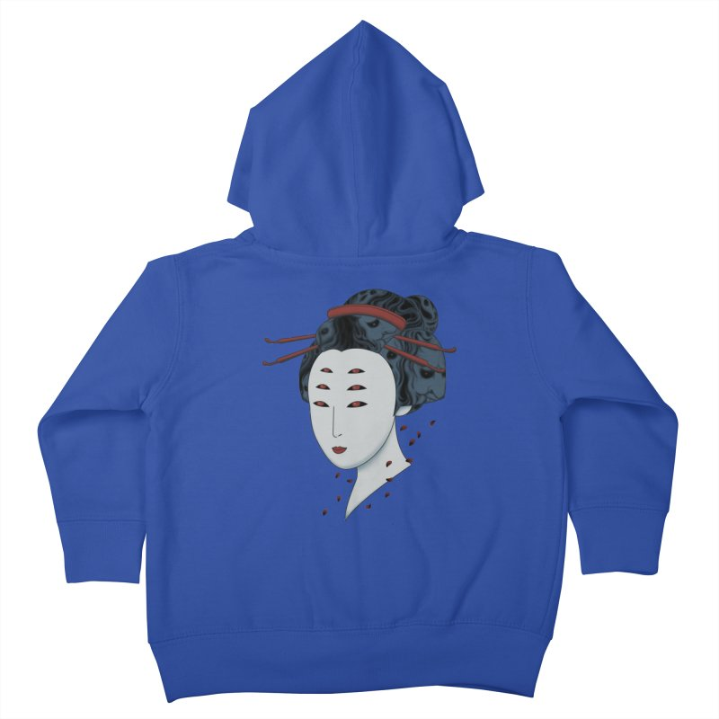 Floating with Demons Kids Toddler Zip-Up Hoody by Pigboom's Artist Shop