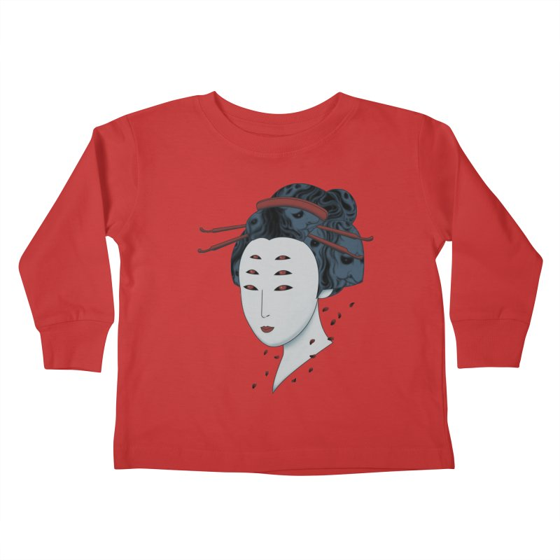 Floating with Demons Kids Toddler Longsleeve T-Shirt by Pigboom's Artist Shop