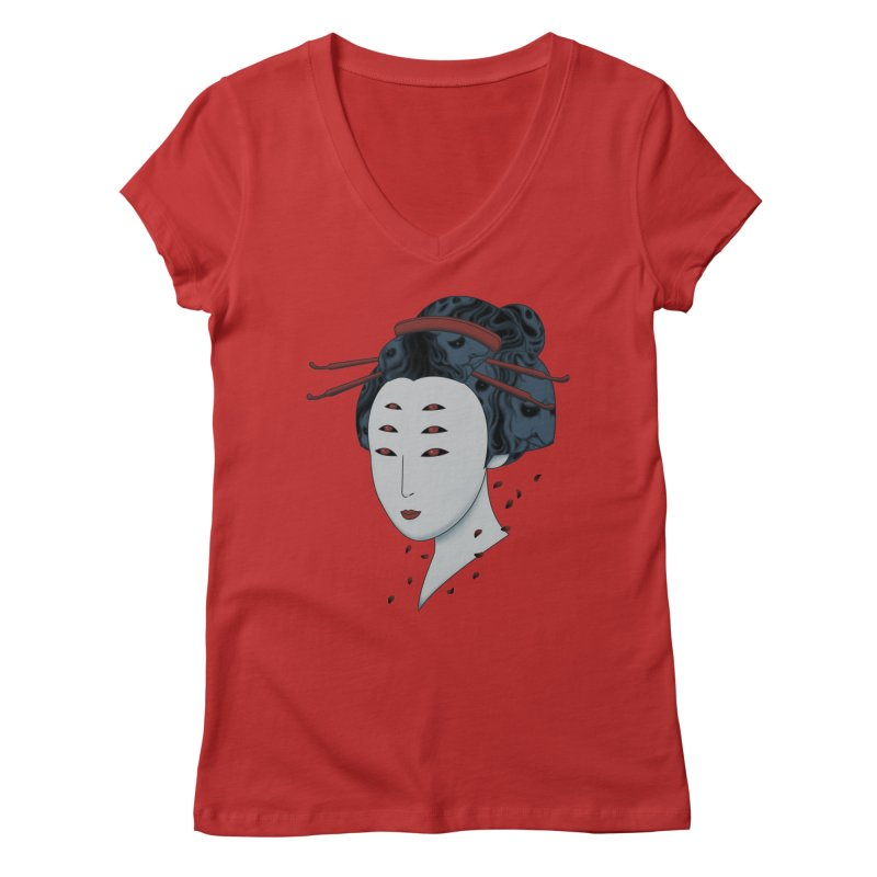 Floating with Demons Women's V-Neck by Pigboom's Artist Shop