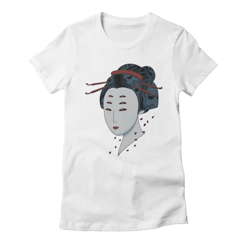 Floating with Demons Women's Fitted T-Shirt by Pigboom's Artist Shop