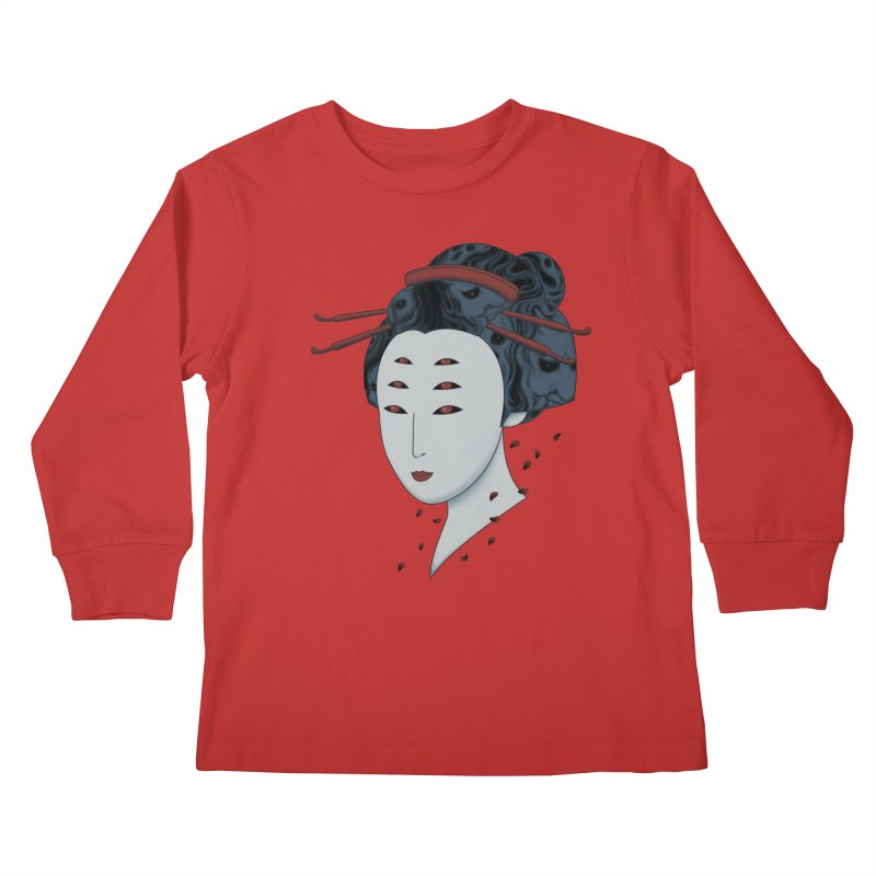 Floating with Demons Kids Longsleeve T-Shirt by Pigboom's Artist Shop