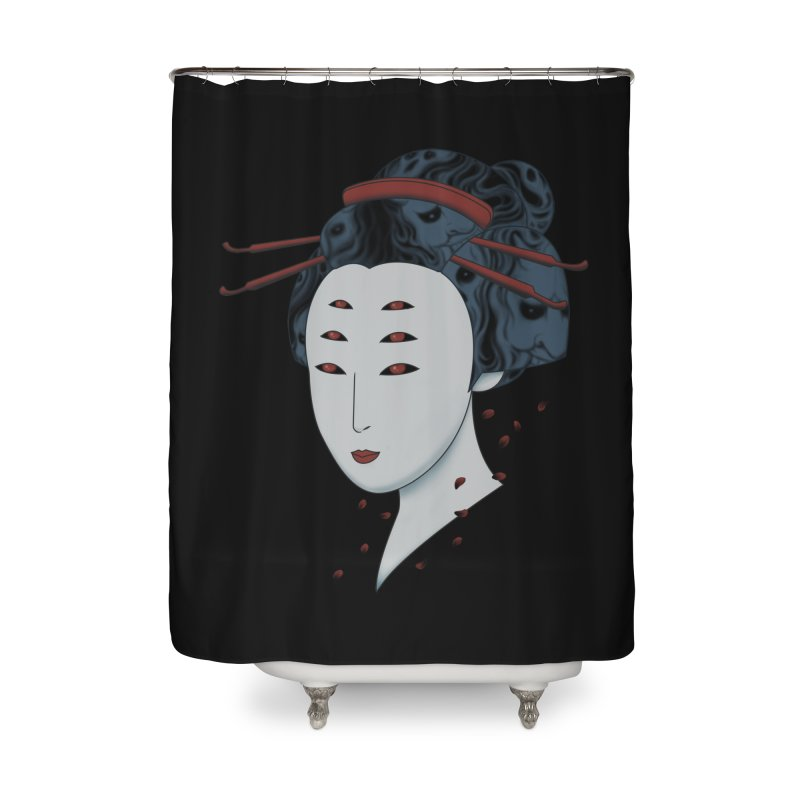 Floating with Demons Home Shower Curtain by Pigboom's Artist Shop